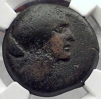 CLEOPATRA VII JULIUS CAESAR & MARK ANTONY Lover Egyptian Greek Coin NGC F i58223