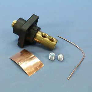 Leviton Black 18 Series Male Panel Receptacle Ball Nose Dual Screw 400A 18R23-E