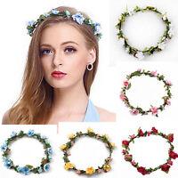 Girl Crown Floral Rose Flower Headband Hairband Wedding Hair Garland Headpiece e
