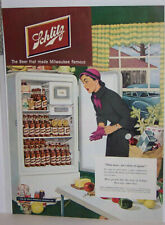 Original Vintage 1950 Schlitz Beer Magazine Ad