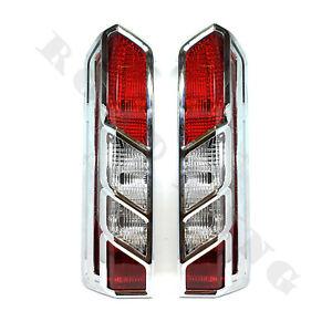 2 x Ford Transit 2014+ Rückleuchte Rücklicht + Chrome Rücklichtabdeckung Blende