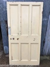 "37""x71 1/2"" Short Victorian Painted Pine Six Panel 3 Over 3 Wide Internal Door"