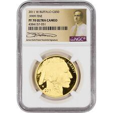 2011-W American Gold Buffalo Proof (1 oz) $50 - NGC PF70 Fraser Label