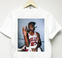 MICHAEL JORDAN 3-PEAT T-SHIRT vtg rap supreme air chicago bulls 90s kanye rodman
