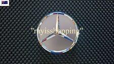 1 x Mercedes Benz Centre Wheel Cap Symbol Logo Design Rims Decal Chrome & Grey