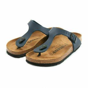 Birkenstock Gizeh Birko-Flor Regular Fit Womens Thong Sandals Blue Size 2.5-8UK