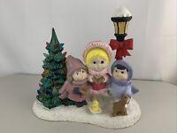 Ceramic Christmas Carolers Light Post / Christmas Tree Holiday 14 X 12