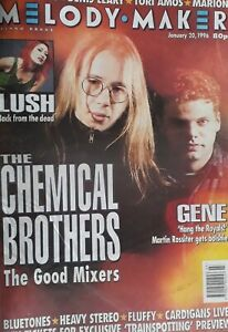 Melody Maker Music Magazine.January 20 1996.Chemical Brothers Cover.Lush/Gene+