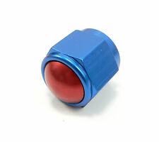 -8 AN Male Flare Cap Block Off Fitting Blue PRE-60829