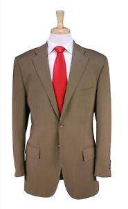 Polo Ralph Lauren by Corneliani Brown Twill 2-Btn Luxury ITALY Wool Suit 40R