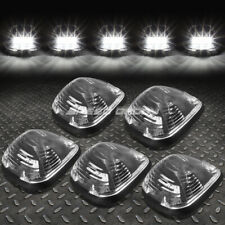 FOR 99-16 FORD SUPERDUTY 5PCS BLACK WHITE LED CAB ROOF RUNNING LIGHT+HARNESS