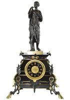 PENDULE DIANE DE GABI. Kaminuhr Empire clock bronze horloge antique uhren cartel