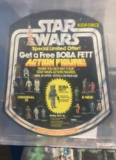 "STAR WARS BOBA FETT BELL DISPLAY VINTAGE CAS 90 (91.9) KENNER 1979 ""Get a free"""