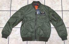 Polo Ralph Lauren Mens M Military Flight Aviator Bomber Jacket Olive Green