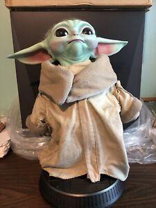 Sideshow Star Wars The Mandalorian GROGU Baby Yoda Life Size Figure - Used