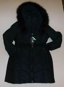 CALVIN KLEIN Emerald Green Parka Coat Size XL X-Large NWT Womens