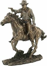 Fighting Cowboy on Horse Statue Sculpture Collectible Great Fathers Day Gift