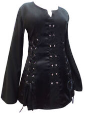 Gothic Scoop Neck Long Sleeve Tops & Shirts for Women