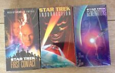 Star Trek VHS Movies Lot 3 First Contact Insurrection Generations New Sealed