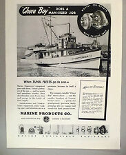 "Sportfisher II ""Chore Boy"" Boat PRINT AD - 1944 ~~ Marine Products Co."