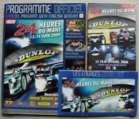 LE MANS 24 HOUR ENDURANCE CAR RACE June 2009 Official Programme DVD Entry List