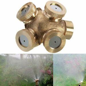 4 Hole Brass Spray Misting Nozzle Gardening Sprinklers - Female/Internal Thread