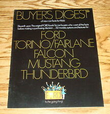 1969 Ford Full Line Buyers Digest Sales Brochure 69 Mustang