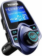 VicTsing Bluetooth FM Transmitter T11, Wireless Bluetooth Radio Transmitter BLUE