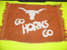 TEXAS LONGHORNS- GO HORNS GO LOGO GOLF HOOK TOWEL