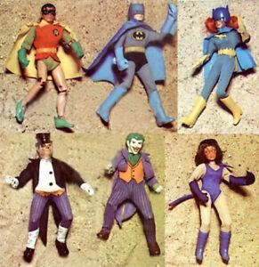 "1974 BATMAN SUPERMAN 8"" mego figure -- Batgirl Robin Joker Penguin -- T1 T2 BODY"