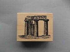 100 PROOF PRESS RUBBER STAMPS CLASSICAL TEMPLE RUINS NEW wood STAMP