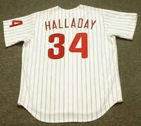 ROY HALLADAY Philadelphia Phillies 2010 Majestic Throwback Home Baseball  Jersey c29703da7