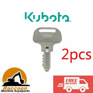 2pcs Ignition Keys 55364-41180 Kubota F FZ GF Series mower 373 F2000 2100 2100E