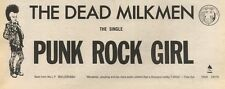 25/2/89Pgn21 Advert: The Dead Milkmen 'punk Rock Girl' Single On Enigma 4x11
