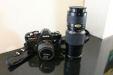 Konica Autoreflex T4 35mm Slr film camera With Zoom 70~150mm Lens Kalimar Filter