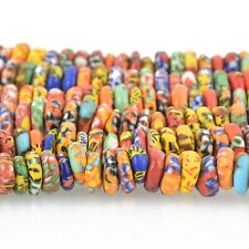 10-12mm MULTICOLOR Glass Rondelle African Trade Beads Recycled x25 beads bgl1711