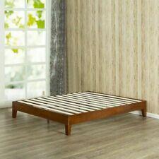 King Size Bed Frame Solid Wood Modern Farmhouse Platform Mid Century Minimalist