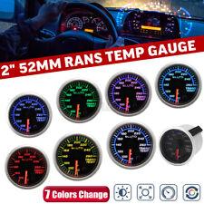 2'' 52mm Transmission Temperature Gauge Trans Temp °F Meter 7 Color LED + Sensor
