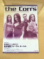 More details for the corrs - original 2001 double sided japanese tour flyer - free uk p&p