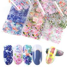 10pcs Nail Foil Stickers Set For Nails Flower Art Film Floral Nail Manicures Us