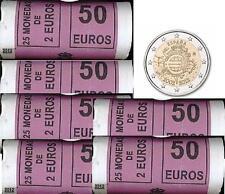cartucho original ESPAÑA 2 euro 2012 S/C 10º aniversario del Euro
