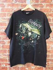 Slipknot Black T-Shirt 2XL Short Sleeve Band Rock Heavy Metal 2 Sided