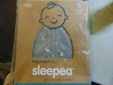 Happiest Baby Sleepea 5-Second Swaddle, 100% Organic Cotton, Small Gray - New