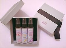 Organic Rose Water & Chamomile & Lavender Water Mix X3 30ml Silver Grey Gift Set