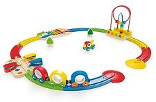 Railway Railroad Kids Play Set Train Wooden Toddler Boy Girl Gift Sounds New