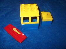 Lego Duplo Eisenbahn für E-LOK Diesellok Führerhaus Blau + Stein + Codestein