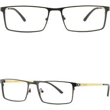 Damen Herren Brillengestell Titan Metall Brille Fassung Leicht Gestell Schwarz