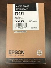 New Epson T5451 Photo Black Ink Cartridge for Stylus Pro 7600/9600 EXP. 04.2018