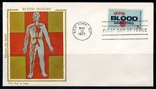 UNITED STATES 1971  GIVING BLOOD COLORANO  UNADDRESSED FIRST DAY COVER