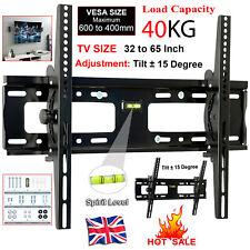 Universal TV Wall Mount Bracket Slim Tilt 3D LED Plasma 32-65 inch Adjustable UK